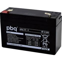 PBQ PB-4-3,5 1694710 svinčeni akumulator 4 V 3.5 Ah svinčevo-koprenast (Š x V x G) 91 x 64 x 35 mm ploščati vtič 4,8 mm brez vzd