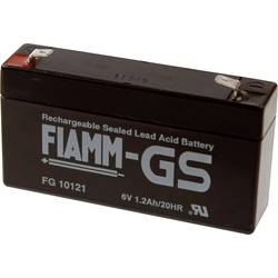 Fiamm PB-6-1,2-4,8 FG10121 svinčeni akumulator 6 V 1.2 Ah svinčevo-koprenast (Š x V x G) 97 x 58 x 54 mm ploščati vtič 4,8 mm br