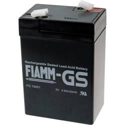 Fiamm PB-6-4,5 FG10451 svinčeni akumulator 6 V 4.5 Ah svinčevo-koprenast (Š x V x G) 70 x 106 x 47 mm ploščati vtič 4,8 mm brez