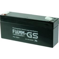 Fiamm PB-6-3 FG10301 Svinčeni akumulator 6 V 3 Ah Svinčevo-koprenast (Š x V x G) 134 x 66 x 33 mm Ploščati vtič 4,8 mm Brez vzdr