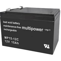 multipower PB-12-15 MP15-12C svinčeni akumulator 12 V 15 Ah svinčevo-koprenast (Š x V x G) 151 x 104.5 x 99 mm ploščati vtič, 6,