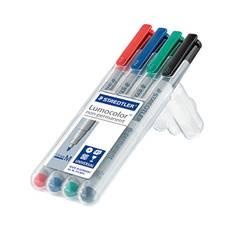 Staedtler flomaster za folijo Lumocolor M non-permanent 315 315 WP4 modra, zelena, rdeča, črna