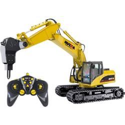 1:14 RC funkcijski model za začetnike gradbeni stroj vklj. akumulator in polnilni kabel