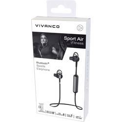 Vivanco SPORT AIR FITNESS bluetooth® športne stereo slušalke zaščita pred znojenjem črna