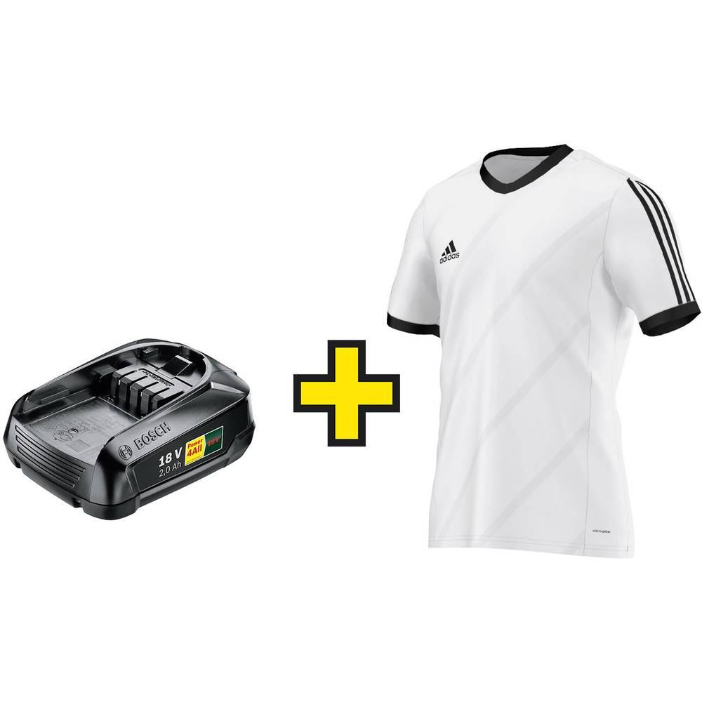 Bosch PBA Li-Ion baterija 18 V-2 Ah + originalni Adidas majica G. L