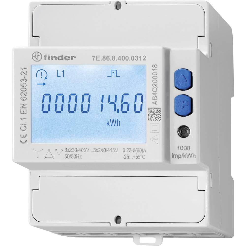 Finder 7E.86.8.400.0312 trifazni števec električnega toka, digitalni, priklj. na pretvornik MID odobritev: da