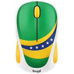 Logitech M238 Brazil bežični wlan miš optički zelena, žuta, plava boja