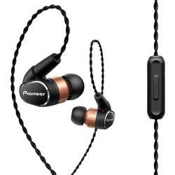 Pioneer SE-CH9T-K HiFi slušalke, In Ear, High-Resolution Audio, črne, bakrene barve
