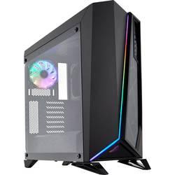Corsair Spec Omega RGB midi-tower računalniško ohišje črna 2 vnaprej nameščena led ventilatorja, stransko okno, vgrajena osvetli
