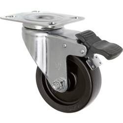 TOOLCRAFT TO-5137905 Okretni kotač PP s bravom 75 mm s montažnom pločom