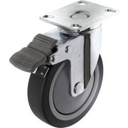 TOOLCRAFT TO-5137920 Okretni kotač TPR s bravom 100 mm s montažnom pločom