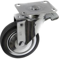 TOOLCRAFT TO-5137929 Okretan kotač od gume s kočnicom 100 mm s montažnom pločom