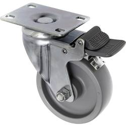 TOOLCRAFT TO-5137938 Okretni kotač PP s bravom 100 mm s montažnom pločom