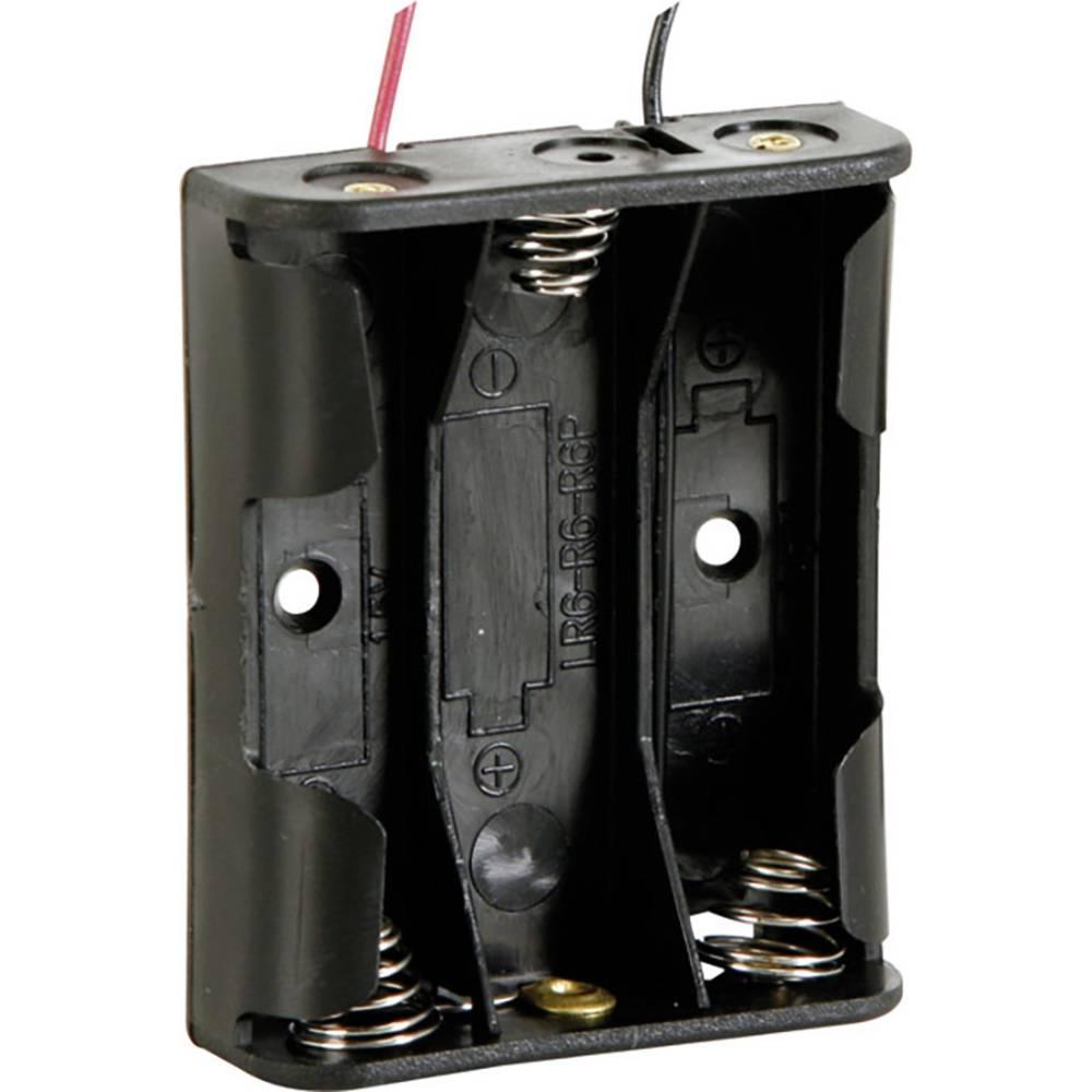 Velleman BH331A nosilec baterij 3xmignon (aa) kabel (D x Š x V) 58 x 48 x 17 mm