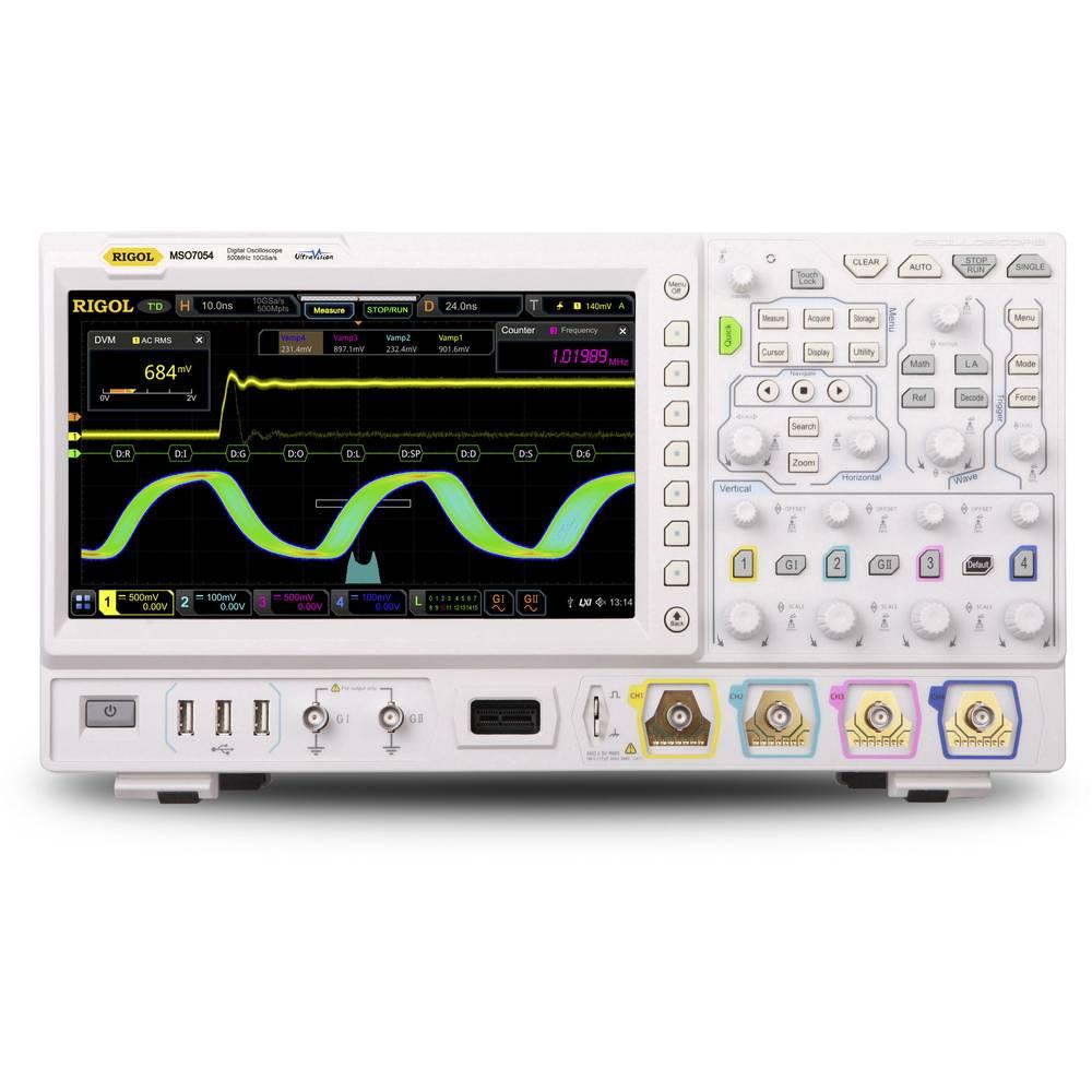 Rigol DS7024 Turbo Digitalni osciloskop 200 MHz 10 GSa/s 500 Mpts Multimetar-funkcije