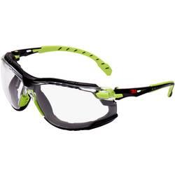 3M Solus S1201SGAFKT Zaščitna delovna očala Vklj. zaščita proti rošenju Črna, Zelena DIN EN 166