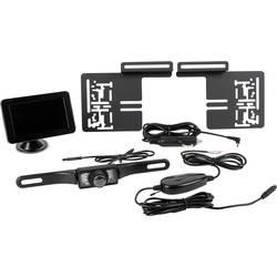 Eufab brezžični vzvratni video sistem oddaljenost od ovire prisesno podnožje, nosilec registrske tablice črna