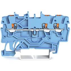 WAGO 2200-1304 prevodna sponka 3.50 mm Push-In sponka modre barve 100 kosov
