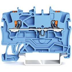 WAGO 2201-1204 prevodna sponka 4.20 mm Push-In sponka modre barve 100 kosov
