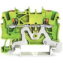 WAGO 2201-1207 sponka za zaščitni vodnik 4.20 mm Push-In sponka zeleno-rumene barve 100 kosov