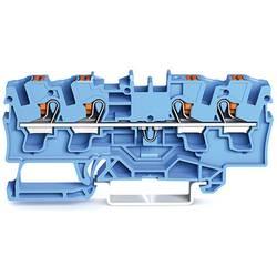 WAGO 2204-1404 prevodna sponka 6.20 mm Push-In sponka modre barve 50 kosov