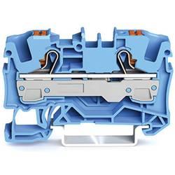 WAGO 2206-1204 prevodna sponka 7.50 mm Push-In sponka modre barve 1 kos