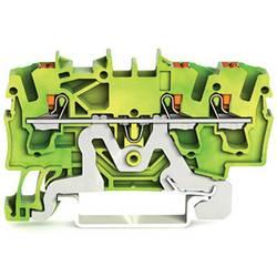 WAGO 2202-1307 sponka za zaščitni vodnik 5.20 mm Push-In sponka zeleno-rumene barve 100 kosov