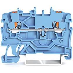 WAGO 2200-1204 prevodna sponka 3.50 mm Push-In sponka modre barve 100 kosov