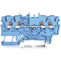 WAGO 2200-1404 prevodna sponka 3.50 mm Push-In sponka modre barve 100 kosov