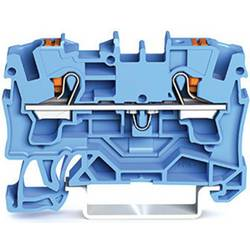 WAGO 2204-1204 prevodna sponka 6.20 mm Push-In sponka modre barve 50 kosov