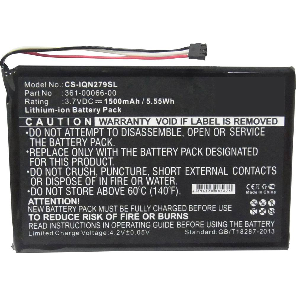 Beltrona akumulatorska navigacijska naprava Nadomešča originalno baterijo 361-00066-00 3.7 V 1500 mAh