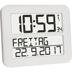 TFA Dostmann 60.4512.02 radijska stenska ura 258 mm x 212 mm x 30 mm bela, črna velik zaslon