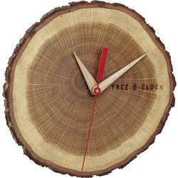 TFA Dostmann 60.3046.08 kvarčna stenska ura 172 mm x 180 mm x 40 mm hrast, les pravi les