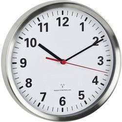 TFA Dostmann 60.3529.02 radijska stenska ura 22 cm x 4.5 cm aluminij tanek urni mehanizem (tihi), funkcija za varčevanje z energ