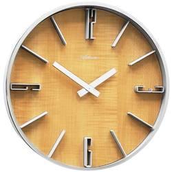 Atlanta Uhren 4426/30 kvarčna stenska ura 300 mm x 60 mm srebrna