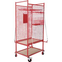 Kunzer 7TW01 transportna kolica za priključke žičana košara za male komade, bočna rešetka , držač papira za radne naloge