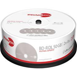 blu-ray bd-r dl prazan 50 GB Primeon 2761318 25 St. vreteno premaz protiv ogrebotina