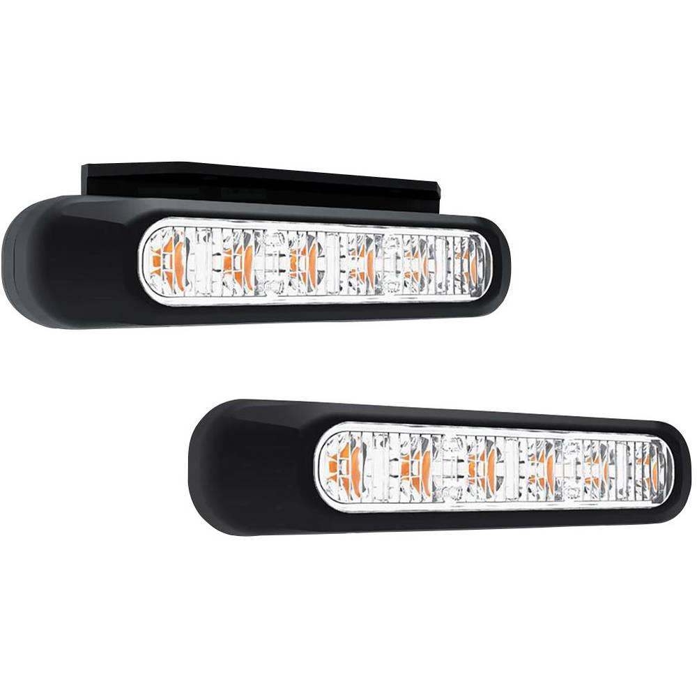 SecoRüt sprednja bliskavica / opozorilna luč FT-200 LED 95200 12 V, 24 V, 36 V vgradna oranžne barve