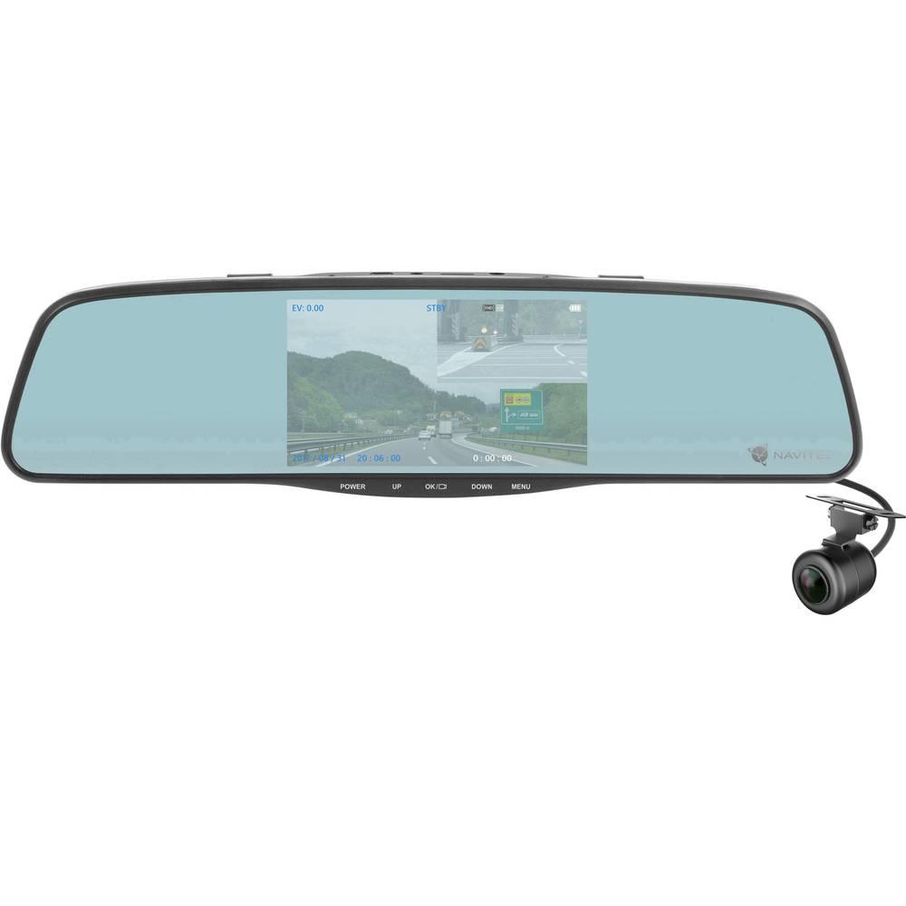 NAVITEL MR250 Avtomobilska kamera Razgledni kot - horizontalni=160 ° 12 V, 24 V Vzvratno ogledalo, Zaslon, Mikrofon, Sistem za z