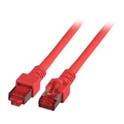 EFB Elektronik LAN (RJ45) Omrežni Priključni kabel CAT 6 S/FTP 10 m Rdeča Ognjevaren, Brez halogena, Z zaščitnim zapornim zatiče