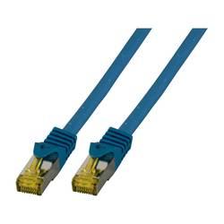 EFB Elektronik LAN (RJ45) Omrežni Priključni kabel CAT 6a (kabel CAT 7) S/FTP 0.5 m Modra Ognjevaren, Brez halogena, Z zaščitnim