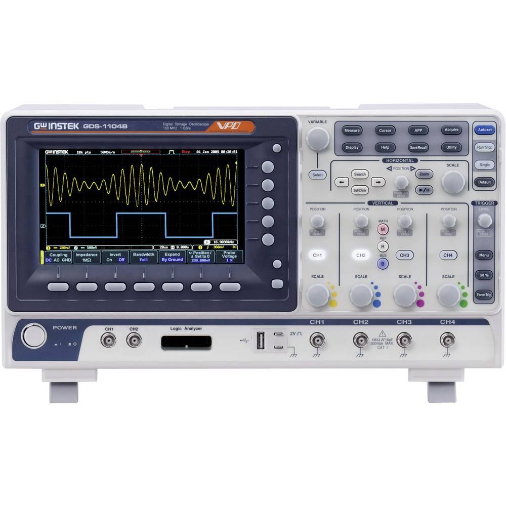 GW Instek GDS-1102B Digitalni osciloskop 100 MHz 1 GSa/s 10 Mpts 8 Bit