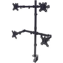 4 kratni Namizni nosilec za monitor 33,0 cm (13) - 81,3 cm (32) Nastavljiv po višini, Nagibni in obračalni Manhattan