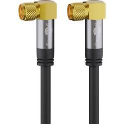 Goobay antene, sat priključni kabel [1x moški konektor f - 1x moški konektor f] 5.00 m 135 dB prilagodljiv črna