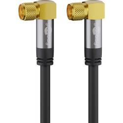 Goobay antene, sat priključni kabel [1x moški konektor f - 1x moški konektor f] 1.00 m 135 dB prilagodljiv črna