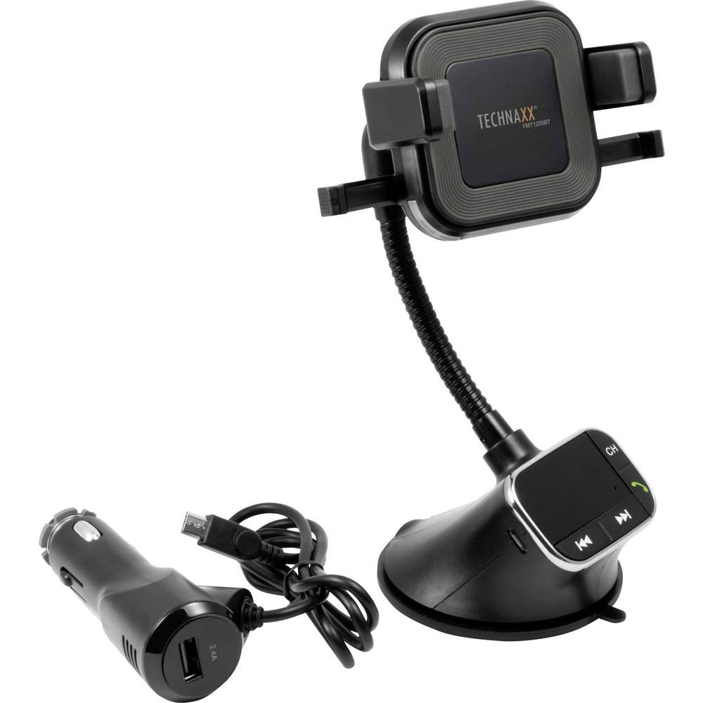 Technaxx FMT 1200BT FM oddajnik Vklj. funkcija prostoročnega govora, Prisesek, S funkcijo polnjenja za iPhone