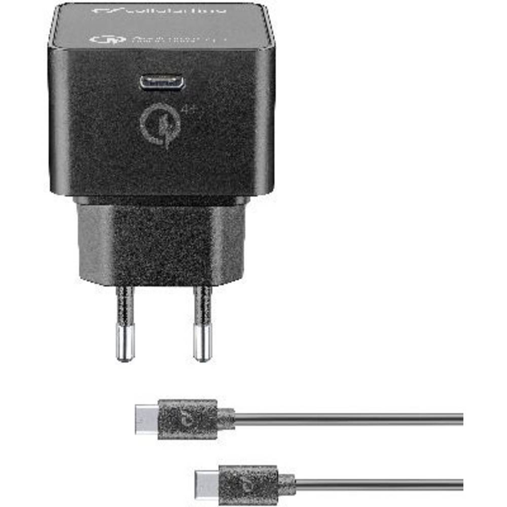 Cellularline Power-Kit PD 30W ACHKITQC4TYCK USB napajalnik Vtičnica Izhodni tok maks. 3000 mA 1 x Ženski konektor USB-C™ U