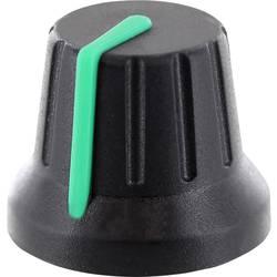 TRU COMPONENTS vrtljivi gumb z označevalno piko, črne barve (premer x V) 18.8 mm x 15.24 mm 1 kos