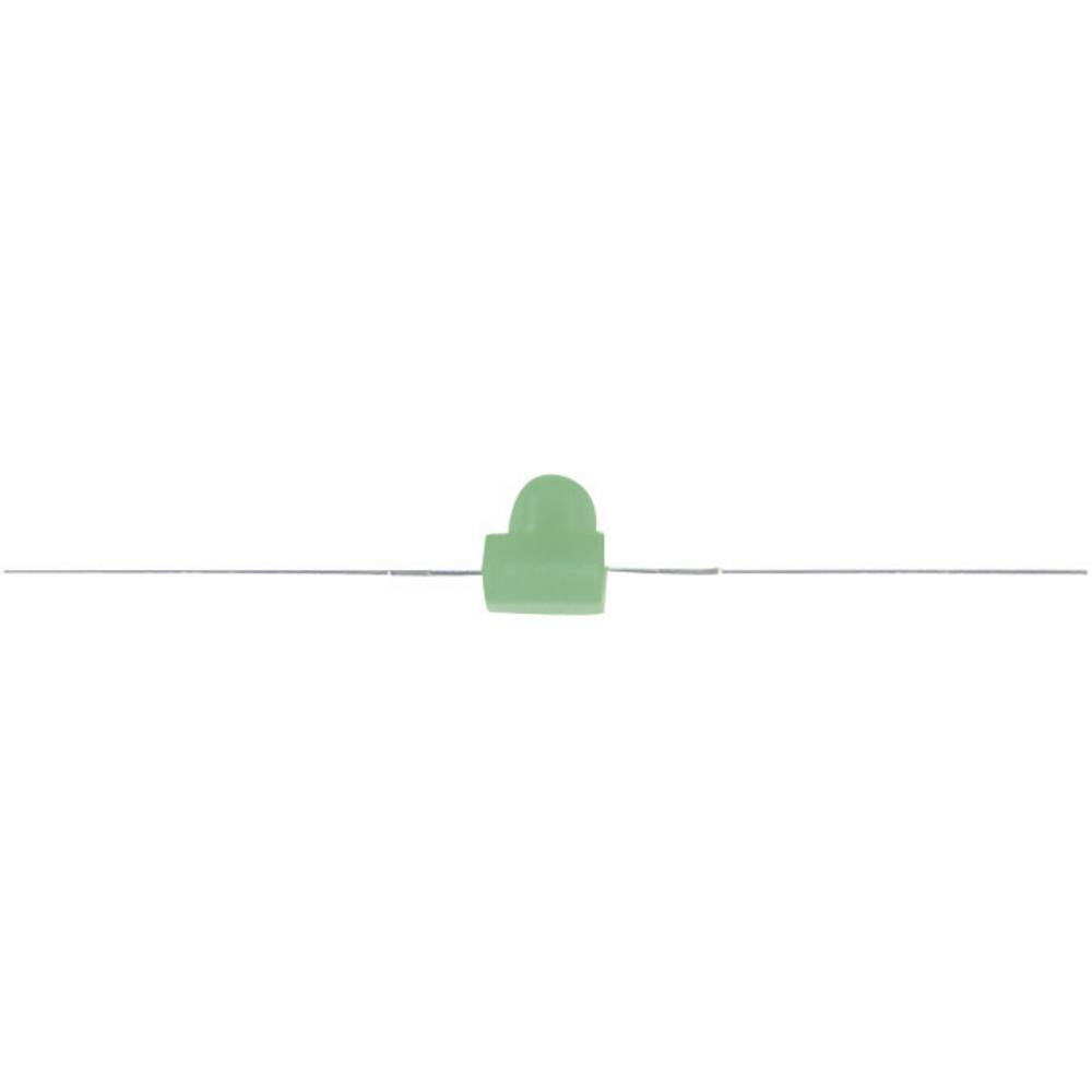 Ožičena LED dioda, zelena, izbočena 2 mm 10 mcd 40 ° 20 mA 2.2 V Kingbright KM2520SGD01