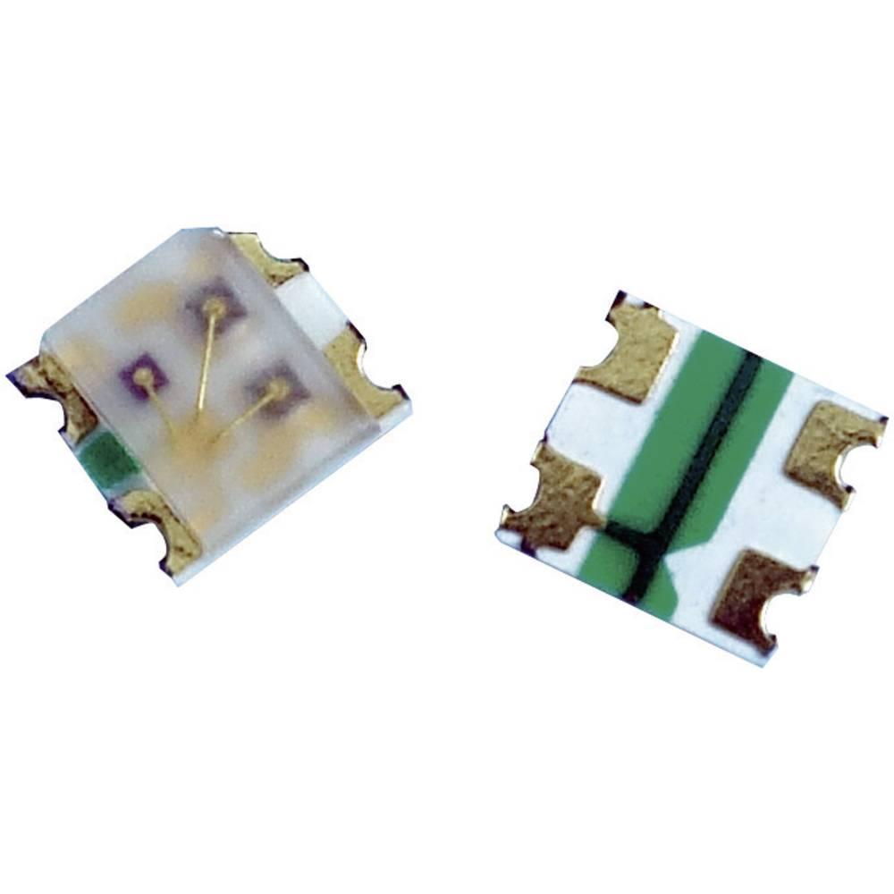 SMD-LED mehrfarbig (value.1317397) Broadcom særlig form 85 mcd, 180 mcd, 70 mcd 145 ° Rød, Grøn, Blå